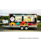 車輪のホットドッグの食糧トレーラーが付いている移動式コーヒーカート