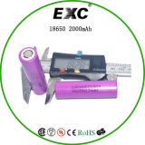 Batterie 2000mAh 3.7V Icr18650 Batterie rechargeable Li-ion