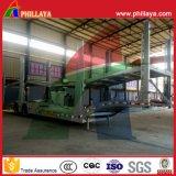 Máquina de elevação hidráulica 2 eixo 6-8 Carros Carrier semi reboque