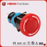 Cierre Emergency del interruptor de pulsador del pulsador de la seta de Dpst de la parada Emergency de la UL del Ce ISO9001 del precio de fábrica