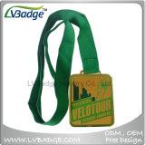 Médaille d'or sportive de haute qualité avec lanière