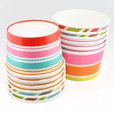 Varios colores de diseño personalizado helado de papel de copas / Paper Ice Cream Cup