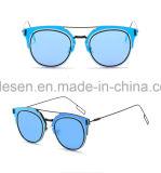 2017 occhiali da sole del metallo del più nuovo di arrivo del commercio all'ingrosso dell'oggetto d'antiquariato Len dello specchio