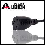Штепсельная вилка шнура питания AC PVC удостоверения подлинности UL материальная
