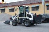 Cargador compacto de la rueda mini cargador de 0.8 toneladas con el esparcidor de la arena