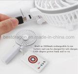 Beweglicher batteriebetriebener USB-Minihandventilator mit Cer FCC-Bescheinigung