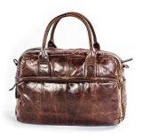 Saco de ombro por atacado do negócio do couro do vintage do preço da fábrica bom para homens