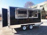 [كرب] شاحنة كشك [هوت دوغ] سندويش لحم أنبوب حلقيّ متحرّكة [ريكشو] طعام عربة
