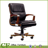 Современные провод фиолетового цвета кожи Управления Исполнительного председателя Деревянный стул поворотное основание