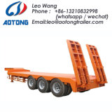 80 Tonnen 2 zeichnet 3/4 Wellen-niedriges Bett/Lowboy LKW-Schlussteil
