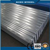 Feuille ondulée enduite de toiture de zinc pour le matériau de construction