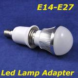 E14, E27 светодиодный светильник с преобразователем/светодиодный светильник с двумя процессорными разъемами патрон лампы для E27 светодиодные лампы