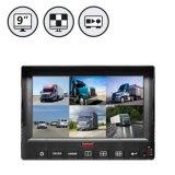 9 pulgadas de 6 canales DVR HD móvil Monitor con pantalla táctil