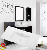 Bacia fina do gabinete de banheiro de Cupc da porcelana da borda (SN1548-90)