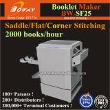 Boway 2000books/H Sattel-flache seitliche Eckfalten-Heftungs-Broschüren-verbindliches Übungs-Buch, das Maschine herstellt