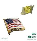 Broche de drapeau national en métal personnalisé avec embrayage de papillons