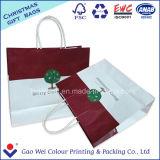 Белый мешок несущей подарка хозяйственной сумки бумаги Kraft для упаковки