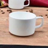 Taza de cerámica blanca de Staclabe de té o de café para la promoción