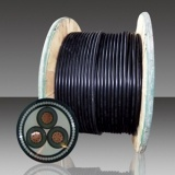 Basse tension souterrain Conducteur en cuivre avec câble blindé d'alimentation en polyéthylène réticulé