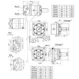Motor hidráulico cicloide de la pequeña alta torque