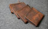Pequena Mini Coin Wallet 100% Crazy Horse Moeda em pele de vaca na bolsa