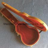 Lp Custom Guitarra eléctrica estándar Hardcase de cuero marrón con forro de rojo (GC-L)