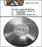 Grande insieme del Cookware dell'acciaio inossidabile della parte inferiore 5PCS di effetto