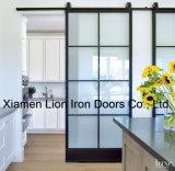 Portello di granaio scorrevole d'acciaio interno per stanza con vetro Tempered