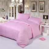 Comprar el color de rosa barato del hotel del satén de algodón el conjunto de lino de la hoja de base