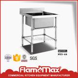 Lijst van de Gootsteen van de keuken de Enige met Geperforeerde Plank (hss-612S)