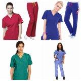 Tipo de uniforme de enfermera y el poliéster/algodón Material impreso matorrales Enfermería Médica tejido uniforme Scrubs