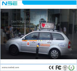 Visualización de LED video de la azotea lateral doble al aire libre del taxi/taxi a todo color de la tapa Sign/3G WiFi del coche que hace publicidad del rectángulo ligero