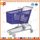 Caddie en plastique de chariot à achats de tailles importantes à la mode (Zhr84)