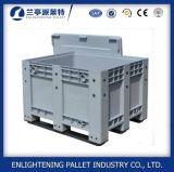 Caixa de pálete plástica do HDPE da alta qualidade da indústria com tampa