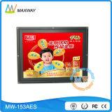 Affissione a cristalli liquidi del blocco per grafici aperto da 15 pollici che fa pubblicità al totem (MW-153AES)