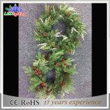 Luz verde de la decoración de la Navidad del día de fiesta del adorno de la guirnalda del fabricante