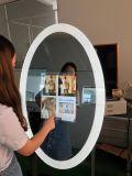 """Del contrassegno istante portatile di 23.6 """" affissione a cristalli liquidi magica Android dello specchio di WiFi di tocco del centro commerciale della foto della cabina Digitahi dello specchio che fa pubblicità alla visualizzazione"""