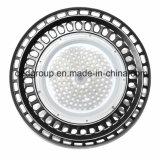 LED de alta de la luz de la Bahía de OVNIS con 120-130lm/W estuche negro CRI80 y 3030SMD Bridgelux o Filips OVNI 3030