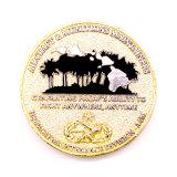 Euro oro funzionale di disegno dello smalto di sfida dell'emblema d'ottone personale della moneta