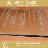 Китай на заводе круглые плоские кромки из закаленного стекла в черного цвета задней панели окрашенные поверхности стола