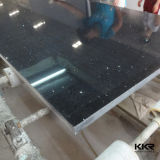 20mmの黒い台所島の大きい平板の人工的な水晶石