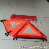 Triangolo d'avvertimento di traffico riflettente rosso di sicurezza per l'emergenza
