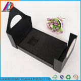 Contenitore impaccante di disegno del nero di regalo operato del documento con l'inserto della gomma piuma