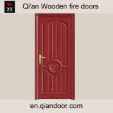 Porte en bois intérieure de pièce de forces de défense principale de porte en bois d'incendie