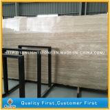 Travertino di pietra di marmo bianco beige per i lastricatori, mattonelle di pavimento delle lastre