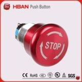 セリウム、ISO9001のTUV IP67 Emeregncy停止きのこボタン