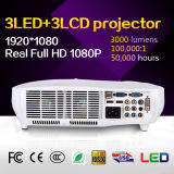 3000 Lumens Mundo Melhor Projector de Vídeo LED 1080P