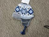 耳の折り返しが付いている子供の方法多彩な編まれた帽子