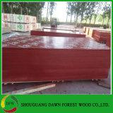 la película roja de 18m m hizo frente a la madera contrachapada del encofrado de la madera contrachapada