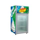 Portello di vetro del congelatore del piano d'appoggio per il gelato